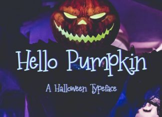 Hello Pumpkin Halloween Font