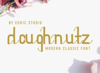 Doughnutz Display Font