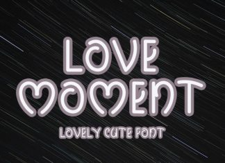 Love Moment Display Font