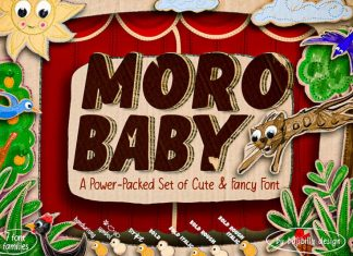 Moro Baby Display Font