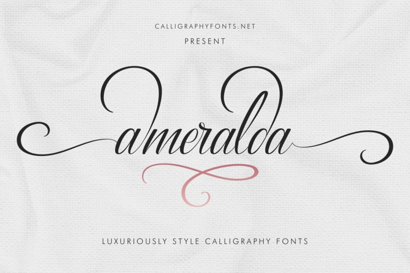 Ameralda Luxurious Calligraphy Script Font