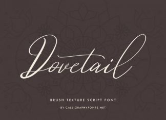 Dovetail Luxurious Calligraphy Script Font