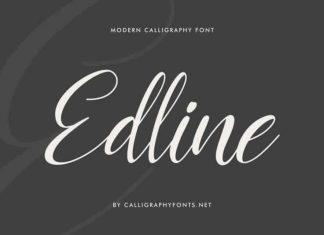 Edline Calligraphy Script Font