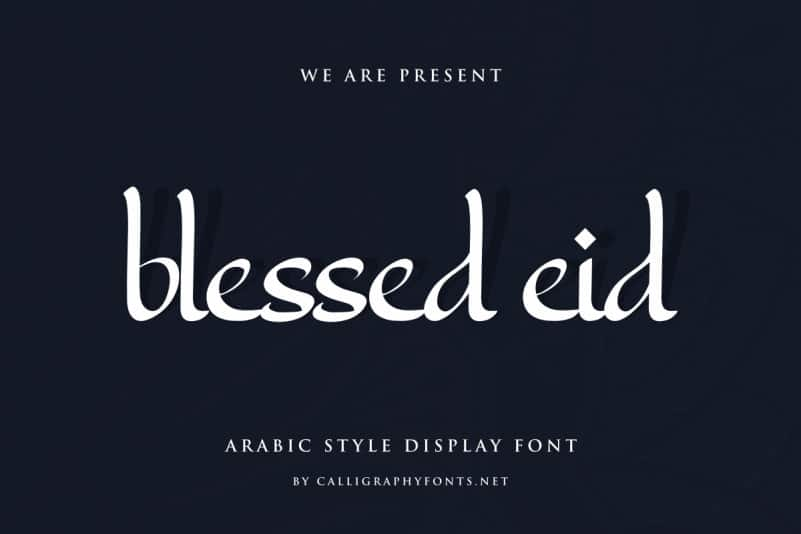 Blessed Eid Arabic Style Font