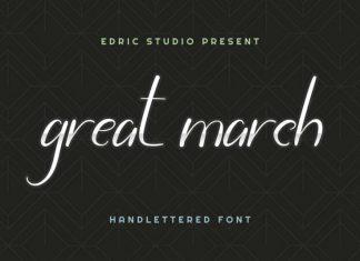 Great March Script Font