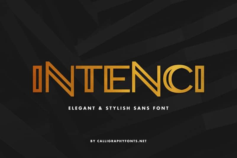 INTENCI Display Sans Serif Font
