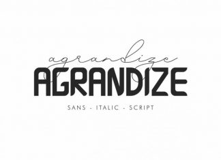 Agrandize Font Duo