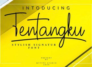 Tentangku Signature Font