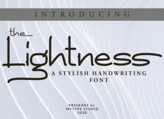 The lightness Handwritten Font