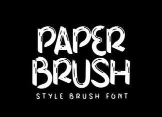 Paper Brush Font