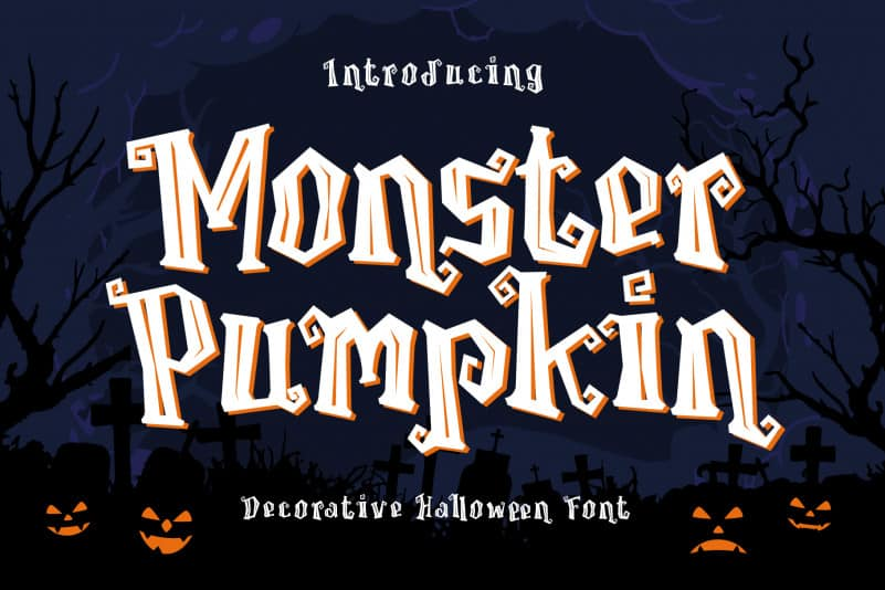 Monster Pumpkin Display Font