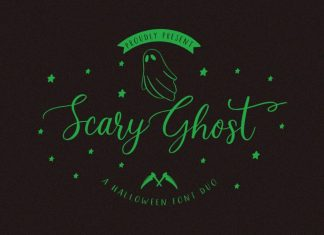 Scary Ghost Halloween Font