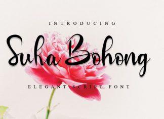 Suka Bohong Calligraphy Font