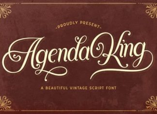 Agenda King Calligraphy Font