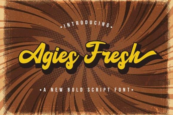 Agies Fresh Script Font
