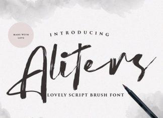 Aliters Brush Font