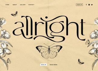 Allright - Fashionable Font