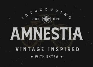 Amnestia Display Font
