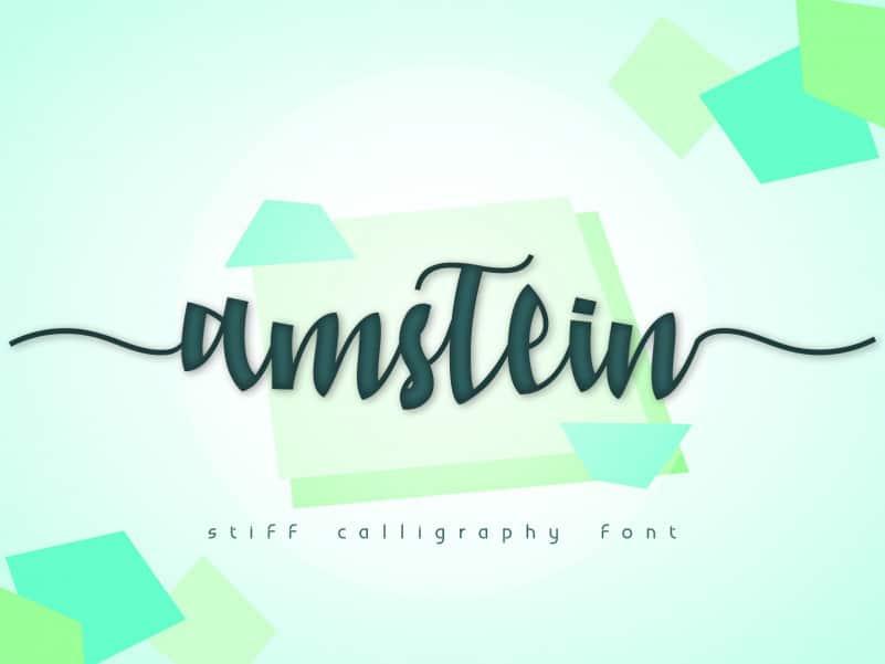 Amstein Script Font