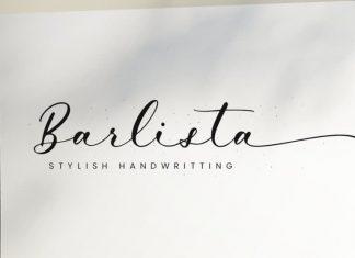 Barlista Calligraphy Font