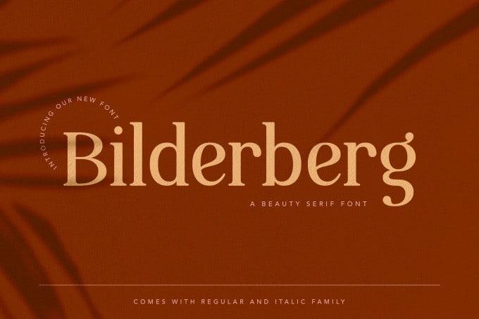 Bilderberg Serif Font
