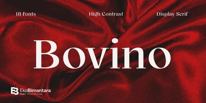 Bovino Trial Serif Font