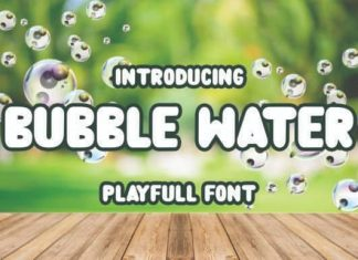 Bubble Water Display Font