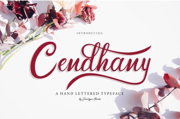 Cendhany Calligraphy Font