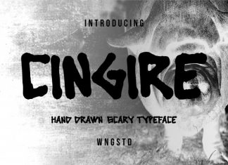 Cingire Hand drawn scary typeface