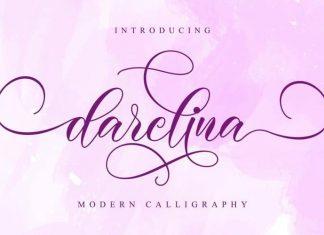 Darelina Calligraphy Font