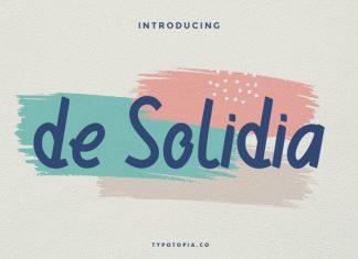 De Solidia Handwritten Font
