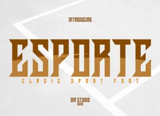 Esporte Display Font
