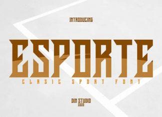 Esporte Display Font