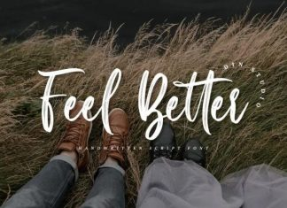 Feel Better Brush Font