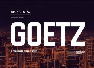 Goetz Display Font
