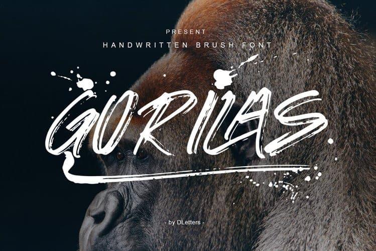Gorilas Brush Font