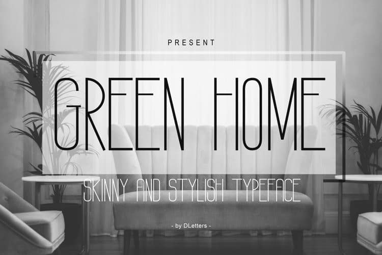 GREEN HOME Sans Serif Font