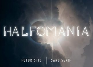 Halfomania Display Font