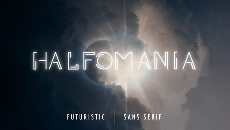 Halfomania Display Font