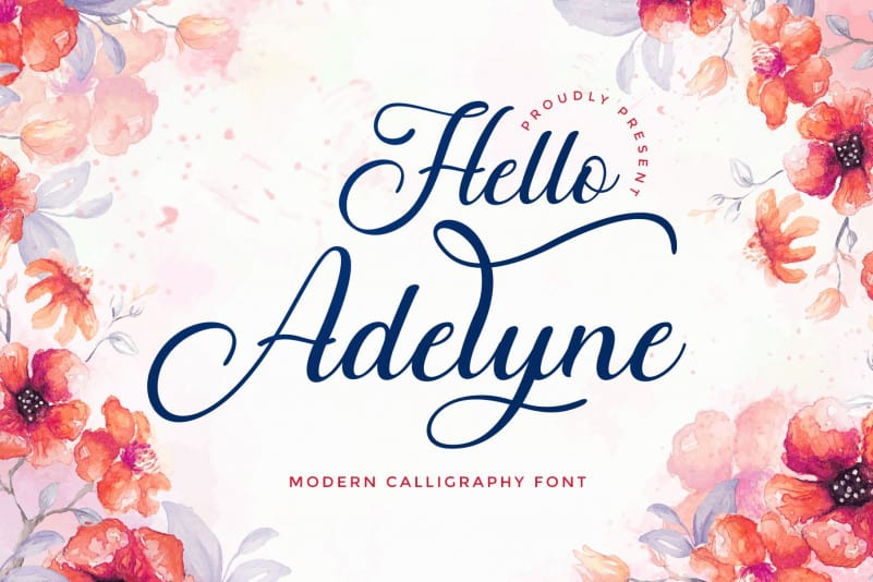 Hello Adelyne Calligraphy Font