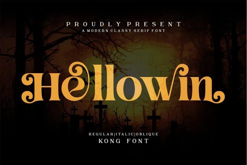 Hellowin Serif Font