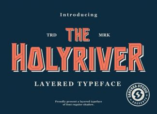 Holyriver Display Font