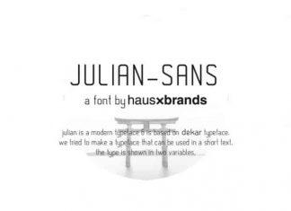 Julian Sans Serif Font