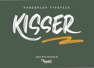 Kisser Brush Font