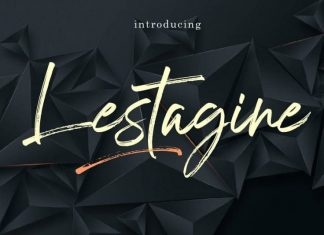 Lestagine Brush Font