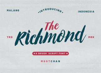 Richmond Brush Font
