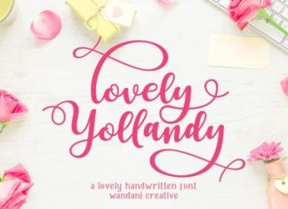 Lovely Yollandy Calligraphy Font