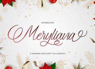 Meryliana Calligraphy Font