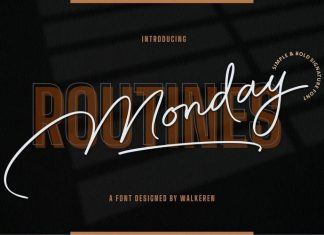 Monday Routines Handwritten Font