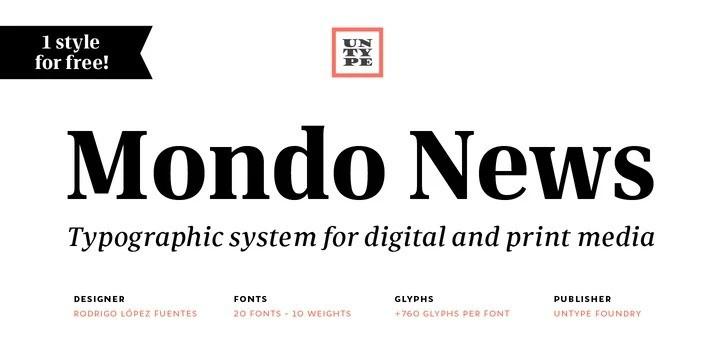Mondo News Serif Font